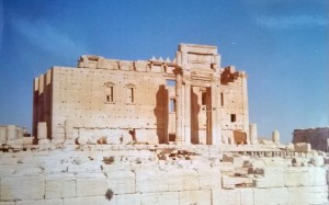 Bel's temple in Palmyra, 1993