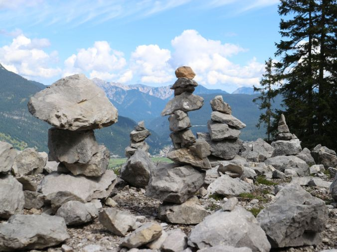 Traces of wanderers in Tirol